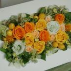 プリザーブドアレンジNo.6~お祝い・プレゼント:¥13,000/花材:木製フレーム W21×L30