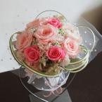 プリザーブドアレンジNo.4~ミニブーケ:¥5,000/花材:プレゼント用のブーケ(スタンドは別売り)