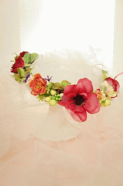 ヘアアクセサリーNo.8~アーティフィシャル花冠